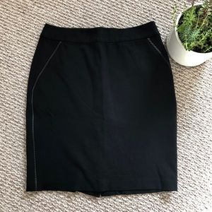 TALBOTS Pencil Skirt 🖤 Edged with Faux Leather
